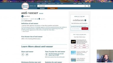 """Merriam Webster Changes Definition Of """"Anti-Vaxxer"""" To This.."""