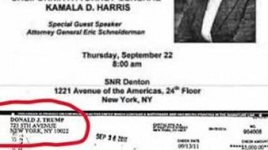 Trump Donations To Kamala Harris in 2011