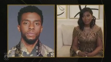 Chadwick Boseman's Wife golden globe Acceptance Speech