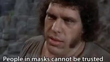 People in masks cannot be trusted